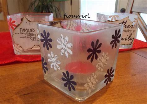 tissue paper decoupage on glass decoupage votives 187 flourgirl