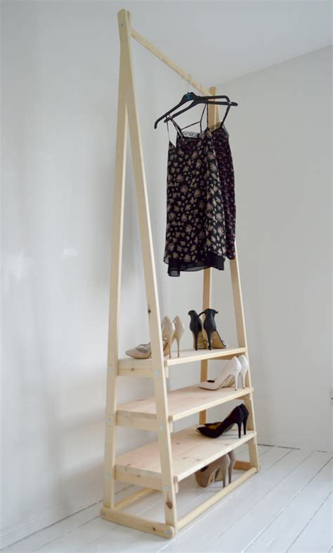 clothes rack with shelves handmade wood clothes rack clothes rail with 3