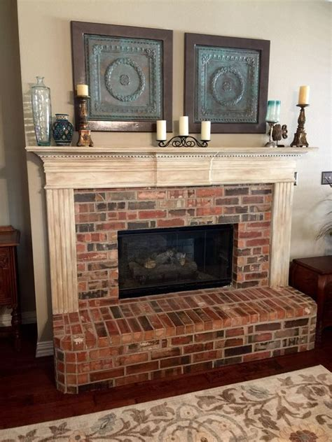 chalk paint fireplace tile the world s catalog of ideas