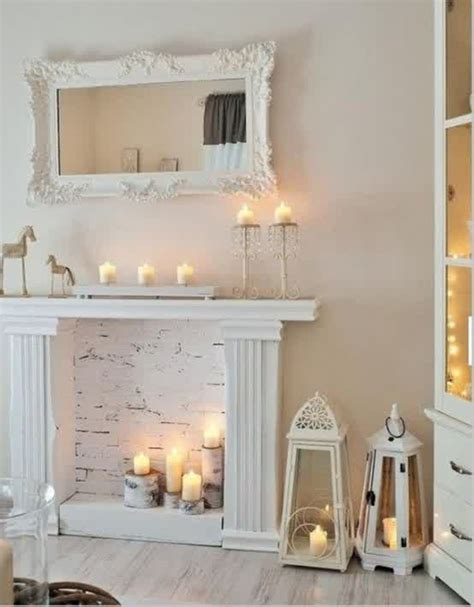 fireplace candles 20 fireplace candle ideas home design and interior