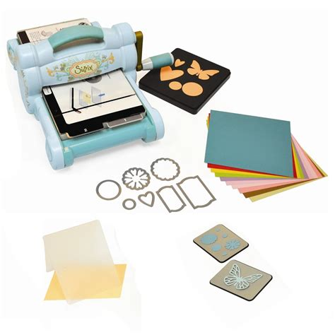 embossing kits card big starter kit blue sizzix from craftyarts co uk uk