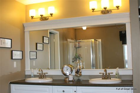 Framed Bathroom Mirror Ideas by Of Great Ideas How To Upgrade Your Builder Grade