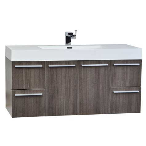 bathroom vanities tn 47 inch wall mount contemporary bathroom vanity grey oak