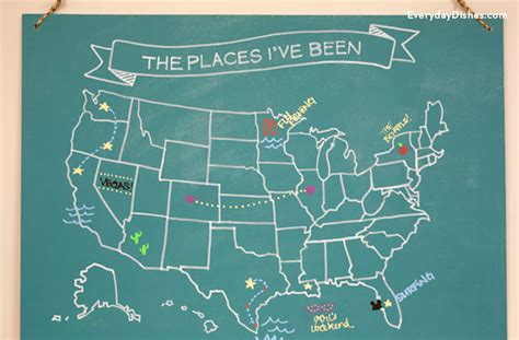 diy chalkboard map how to create a diy map chalkboard everyday dishes diy