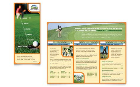 golf instructor amp course brochure template word amp publisher