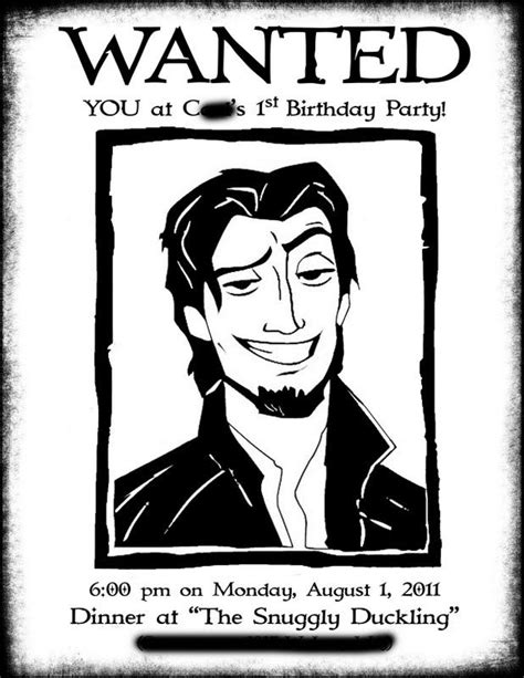 flynn rider wanted poster coloring page mackenzie s