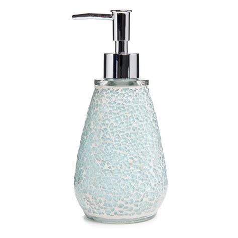 mosaic bathroom accessories aqua sparkle mosaic bathroom accessories set ebay