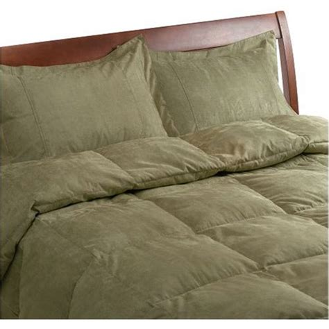 olive green comforter sets new microsuede feather comforter green ebay