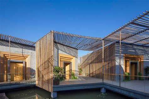 Dining Room Furniture terrace floating bamboo courtyard teahouse in shiqiao china
