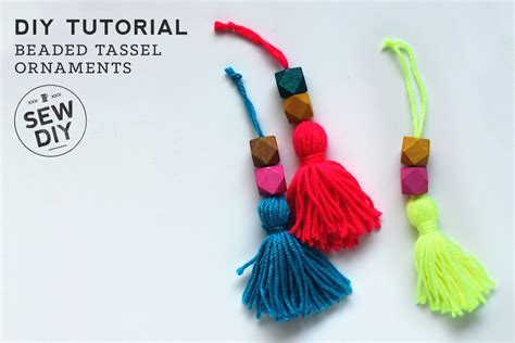 beaded tassel tutorial diy tutorial beaded tassel ornaments sew diy
