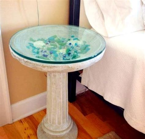 what to put on end tables birdbath end occasional table add glass top