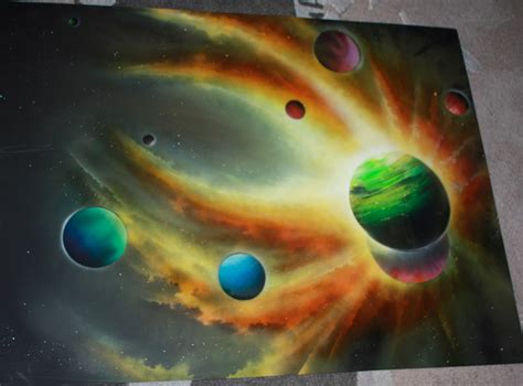 spray paint doesn t work this artist doesn t use just paint to create his you