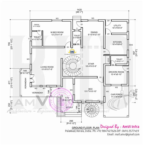ground floor plan house concept rendering with floor plan kerala home design and floor plans
