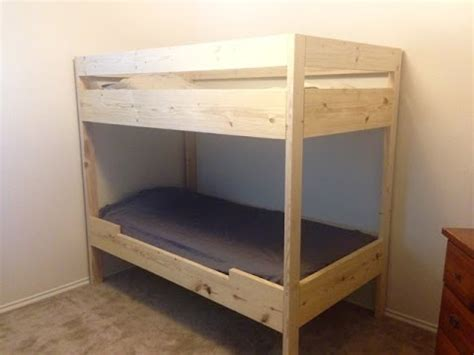 how to bunk beds diy bunk bed for 100