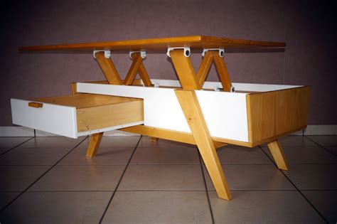 table basse scandinave plateau relevable lift top coffee