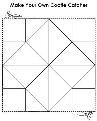 printable origami fortune teller template 9 best images of blank printable fortune teller paper