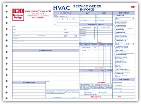 6534 3 hvac service order invoice