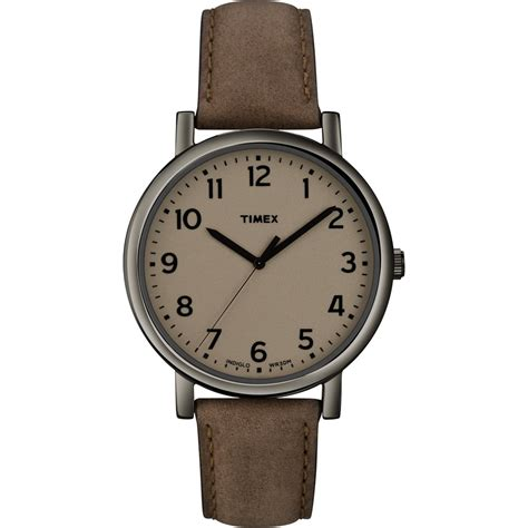 brown leather watches for gents brown leather t2n957 timex from company uk