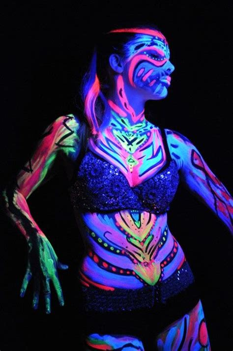 glow in the paint bc 326 best blacklight painting images on