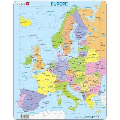 puzzle cadre carte de l europe en fran 231 ais 37 teile larsen puzzle acheter en ligne