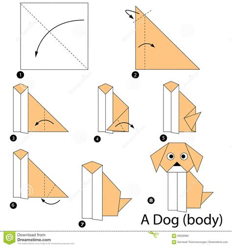 origami animal step by step step by step how to make origami a dogbody