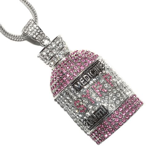 jewelry necklace chains iced out lil wayne syrp bottle pendant 30 quot 36 quot franco