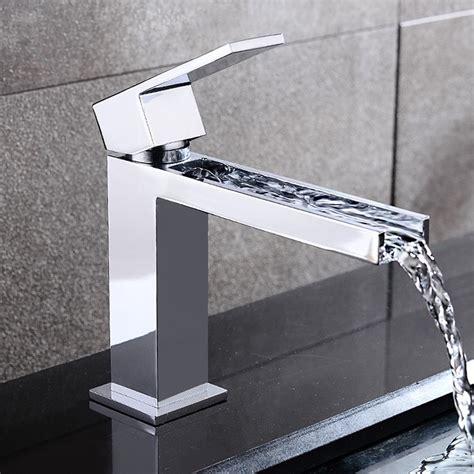 bathroom faucet modern fiego modern chrome waterfall single faucet for