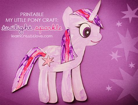 crafts with pony my pony craft twilight sparkle