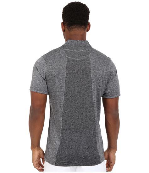 nike flex knit nike momentum flex knit polo in gray for lyst
