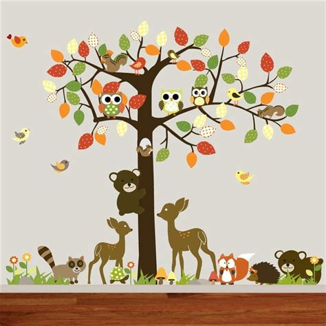 Giant Wall Stickers For Nursery wall decal wonderful ideas woodland animal wall decals