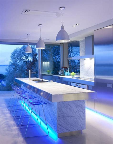 kitchen lighting led ultra modern kitchen design with led lighting fixtures
