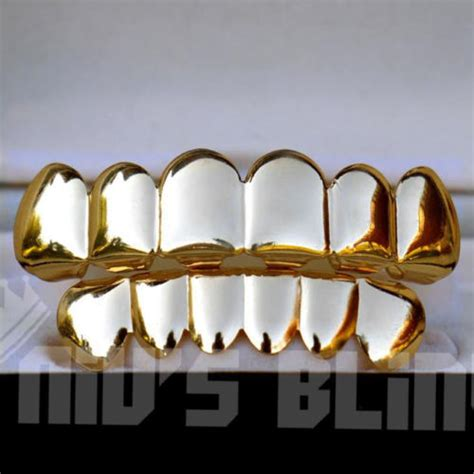 jewelry stores that make grillz 14k gold custom 6 tooth top bottom grillz set bling teeth
