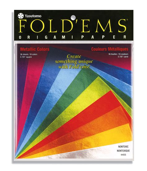 metallic origami paper metallic origami paper assorted colors at joann