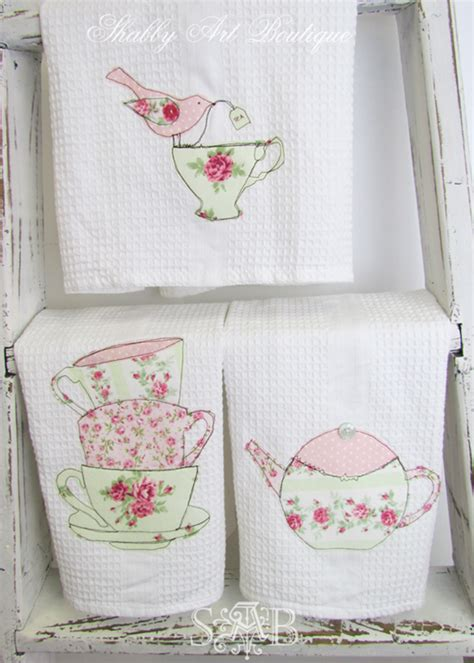 shabby chic tea towels topsy turvy houses shabby boutique