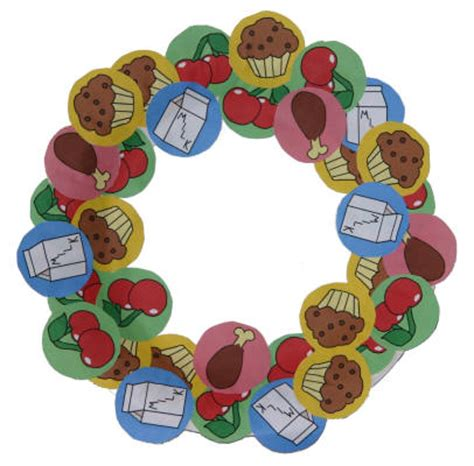 Paper Plate Nutrition Wreath