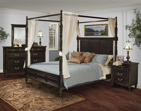 bedroom furniture canopy bed martinique rubbed black canopy bedroom set with drapes