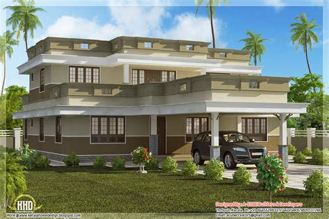 flat home design flat roof home design with 4 bedroom home appliance
