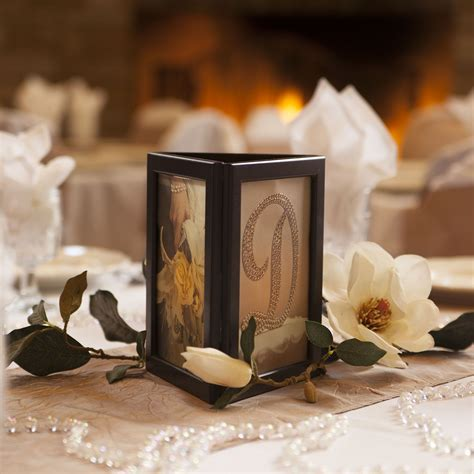 picture frame candle centerpiece photo glo fully assembled