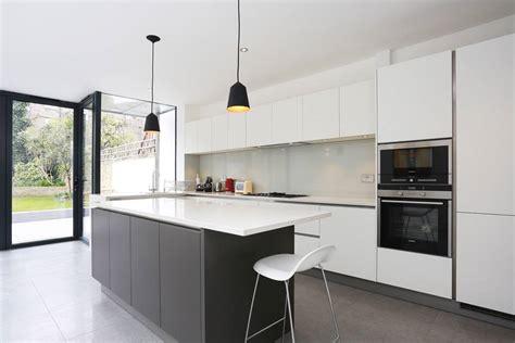 white kitchen islands grey and white kitchen island extension