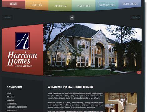 home builder design house construction website design for harrison homes your web