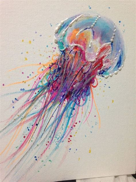 acrylic paint jellyfish pin by shannon brown faenza on painting ideas and