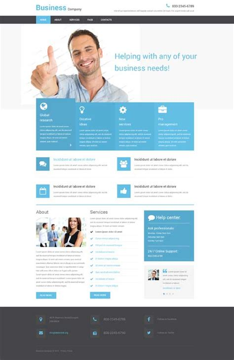 free homepage for website design responsive website template learnhowtoloseweight net