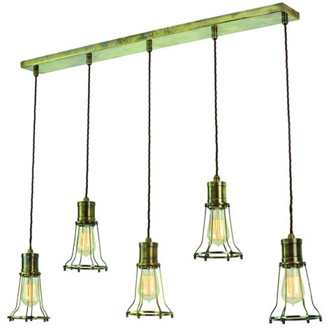 industrial style lighting for a kitchen 5 light mutiple pendant breakfast bar light with metal