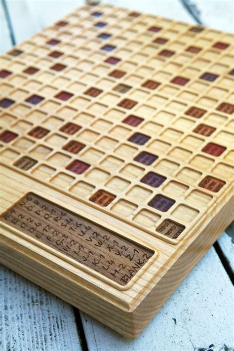 wood scrabble board handmade scrabble board ash by bit beam custommade