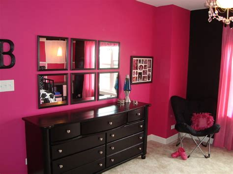 black and pink bedroom furniture pink and black tween bedroom contemporary chicago by