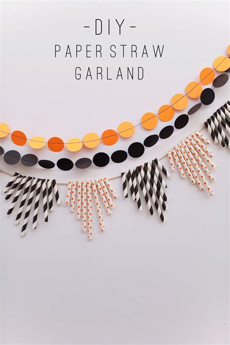 paper straw crafts tell paper straw garland tell and