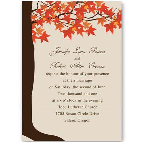 red maple tree fall wedding invitations ewi251 as low as