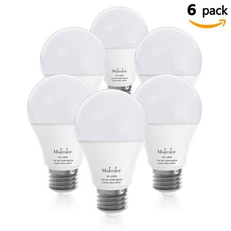 led light bulbs 60 watt bellemuse 486 led light bulbs 60 watt equivalent pack of 6