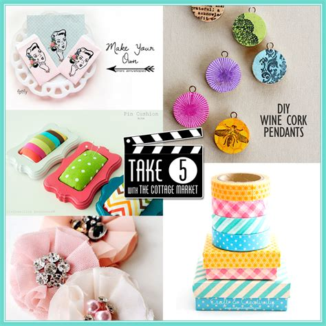 crafts for at take 5 five easy and pretty crafts the cottage market