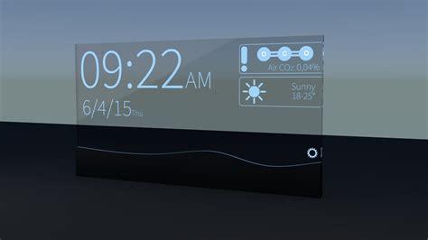 futuristic clock 3d blend futuristic alarm clock